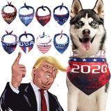 USA President Donald Trump 2020 Dog Bandanas Large Polyester Blends Biden Pet Scarf Washable Pet Accessories Keep America Great