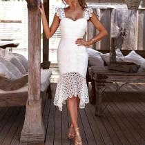 Fashion Sexy Lace Sleeveless Bodycon Dress