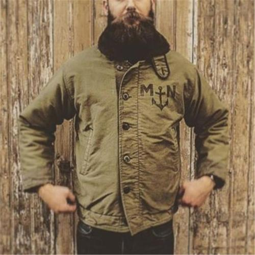 Men's Vintage Single-Breasted Long Sleeve Jacket