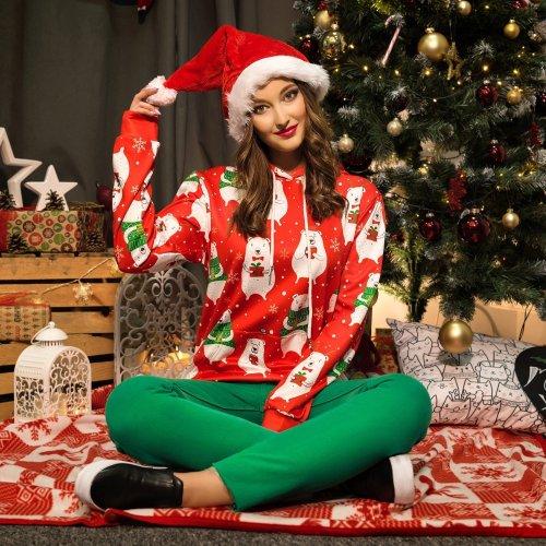 Christmas Fashion Bear Print Pullover Sweater