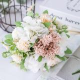 Nordic Artificial Flowers Rose Holding Wedding Bouquet Peony Silk Flower Table Home Party Wedding Decoration Fake Flower 30cm