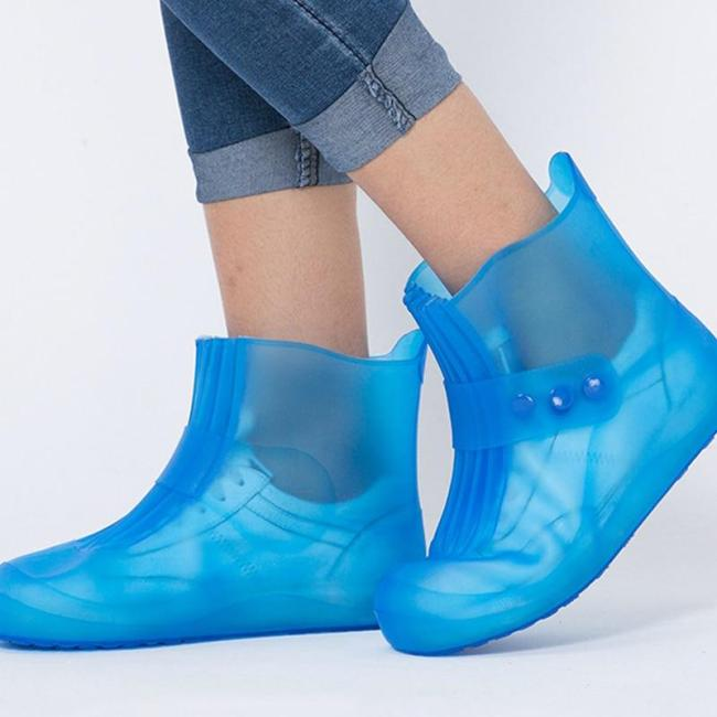 high quality new Rain boots waterproof PVC rubber boots non-slip water shoes cover rainy day men and women children shoe covers