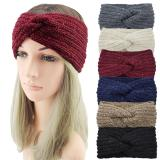 2020 New Sequin Knitted Cross Knotted Headband Ear Warmer Turban Women Girls Elegant Headwrap Autumn Winter Hair Accessories