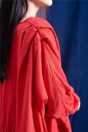 Drawstring Empire Waist Maxi Dress
