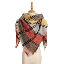 2020 Plaid Winter Scarf Women Warm Foulard Solid Scarves Fashion Blanket Luxury Brand Shawls Cashmere Bufandas Hombre