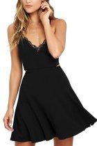 Sexy Elegant Black Sleeveless Mini Dress