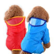 Pet raincoat summer hoody waterproof clothing Teddy jumpsuit breathable safety-rainwear puppy-costume pink kitten-suit outdoor