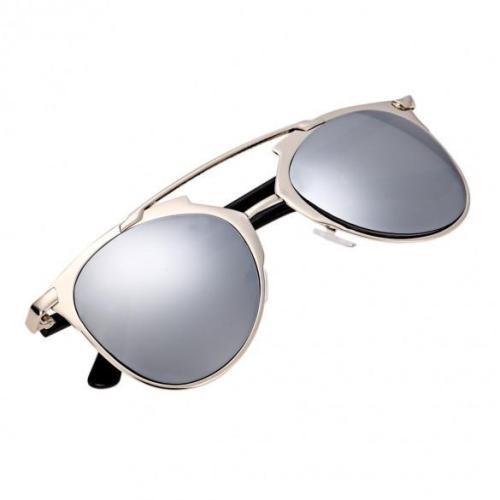 Vintage Style Unisex Mirror Lens Sunglasses Glasses Eyewear Metal Frame