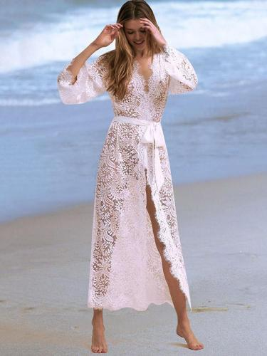 Sexy Lace Hollow Chap Boots Cover-up Swimwear
