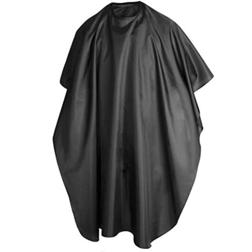 Salon Barber Cape Gown Hair Cutting Hairdressing Hairdresser Cloth Solid Black Increase Distribution Of Adult Management d4