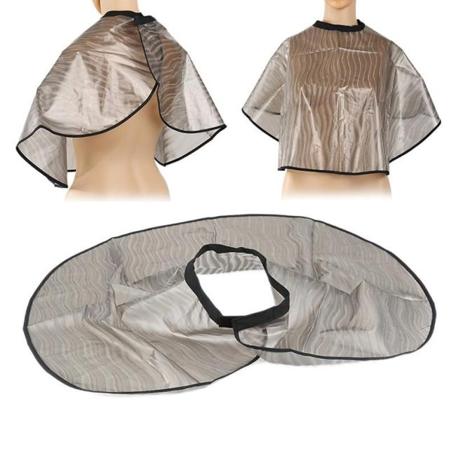 Hot Sale Hair Cutting Collar PVC Waterproof Colouring Cape Barber Cloth Hairdressing Hair Dye Gown Perm Baking Oil Cape Tool