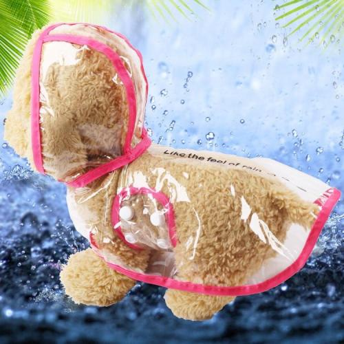 Waterproof Dog Raincoat with Hood Transparent Pet Cat Puppy Rain Coat Pet Jacket Clothes for Small Medium Large Dog Pet Supplies