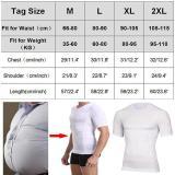 Men Slimming Body Shaper Tummy Control Shapewear Man Shapers Modeling Underwear Waist Trainer Corrective Posture Corset T-Shirt