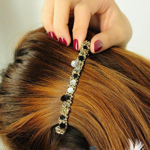 1 pcs Korean Style Crystal Rhinestone Barrette Fashion Women Hairpin Headwear Hair Clip Accessories