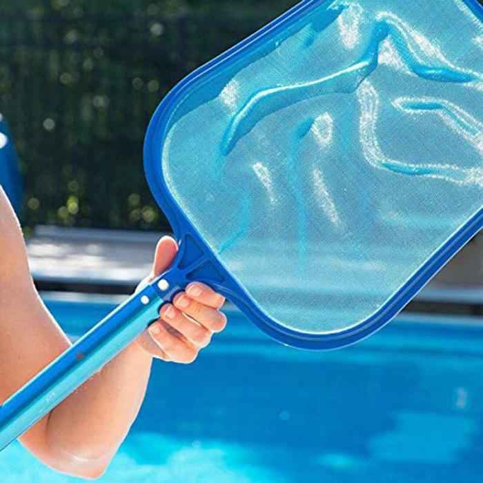Swimming Pool Salvage Net Pool Landing Cleaner Net Cleaning with Aluminium Telescopic Pole Fish Pond Skimmer Leaf Garbage