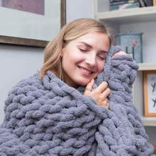 Chunky Knit Chenille Blanket
