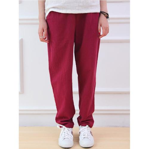 Cotton & Linen Pleated Pants