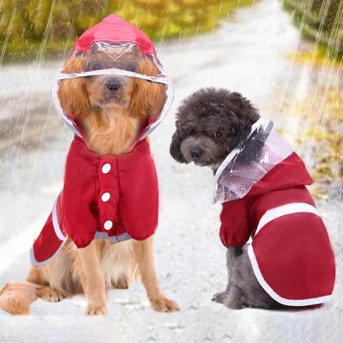 Waterproof small Dog Raincoat Reflective Large Dog Clothes Outdoor Coat Rain Jacket Pet Puppy Big dog poncho Breathable mesh