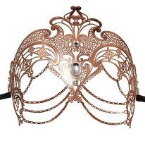 Masquerade Mask Metal Venetian Mask Halloween Costume Mardi Gras Mask