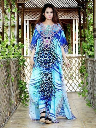 Printed Leopard Beach Split-side Cover-up