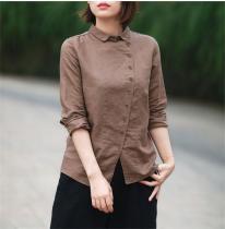 Vintage Button Up Linen Shirt