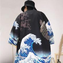 Kimono cardigan men Japanese obi male yukata men's haori Japanese samurai clothing traditional Japanese clothing