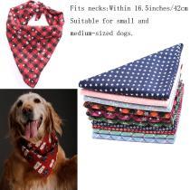 Pet Dog Bandanas Reversible Triangular Bandage Dog Scarf Pet Grooming