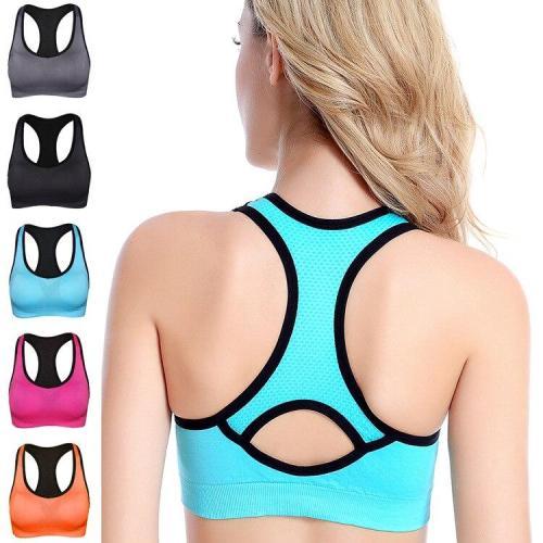 EBUYTIDE Women Sports Bra Workout Fitness Top Padded Breathable Brassiere Fitness Sports Tops Female Running Shochproof Gym Yoga Bra Girl
