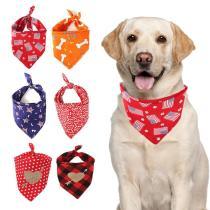 Dog Bandana Cotton Scarf Bib Flower Grooming Accessories Triangular Bandage Collar For Small Medium Large Pet Fashion Design
