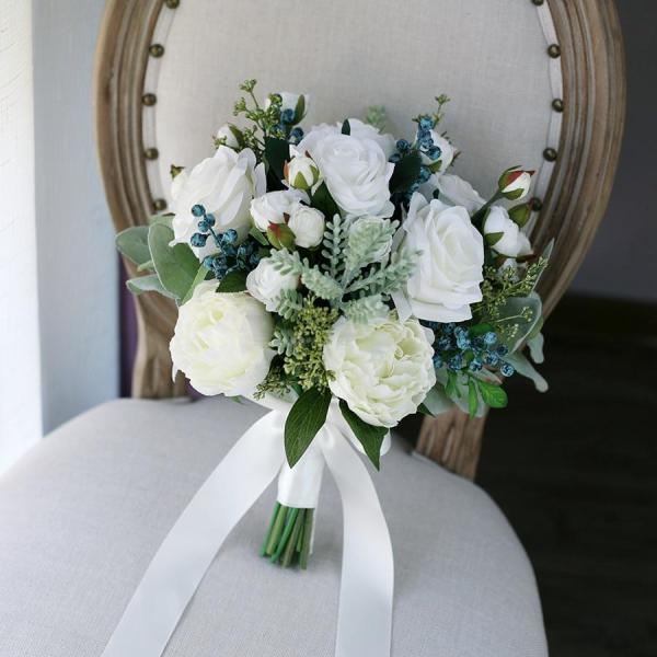 2020 New Arrival Bridal Bouquets Women Wedding Artificial Flower Bouquet Studio Wedding Photo Simulation Holding Flowers