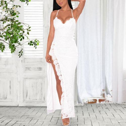 Sexy Lace Split Strap Dress
