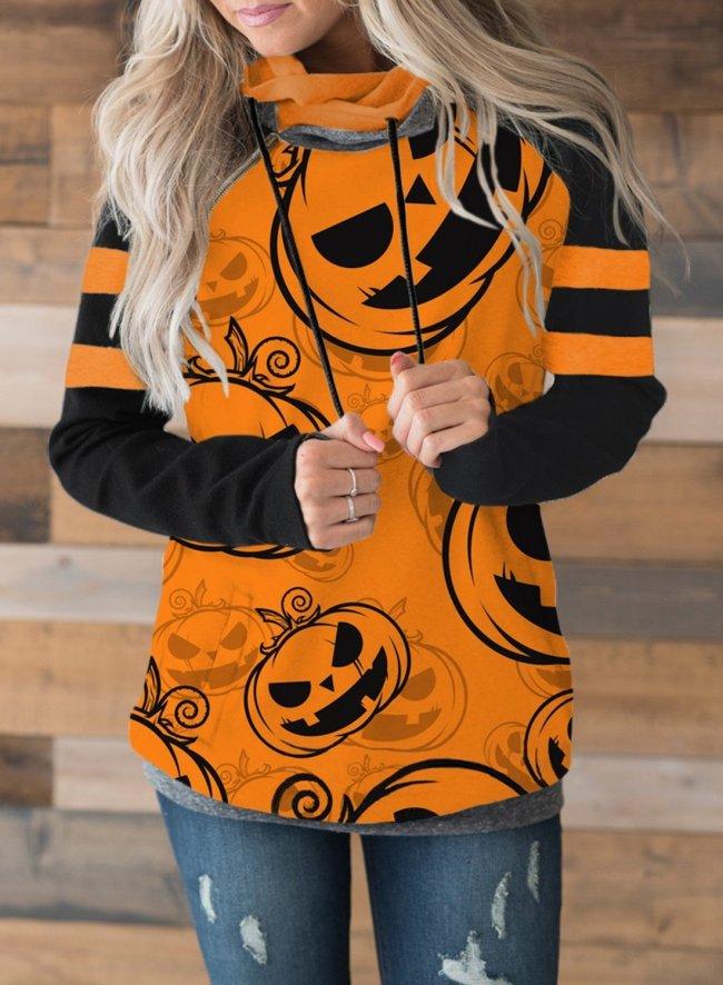Halloween Pumpkin Funny Pullover Hoodie