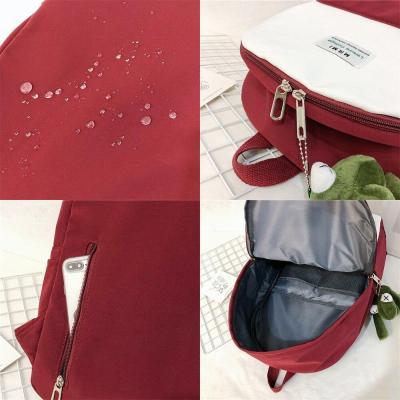 Women Student Cute Backpack Nylon Harajuku Female School Bag Laptop Ladies Kawaii Backpack Girl Fashion Book Bag New Trendy 2020