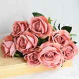 2pcs 50cm Artificial Flower Bouquets Real Touch Rose Flower For Wedding Bride Bouquet Birthday Party Decor Valentines Day Gifts