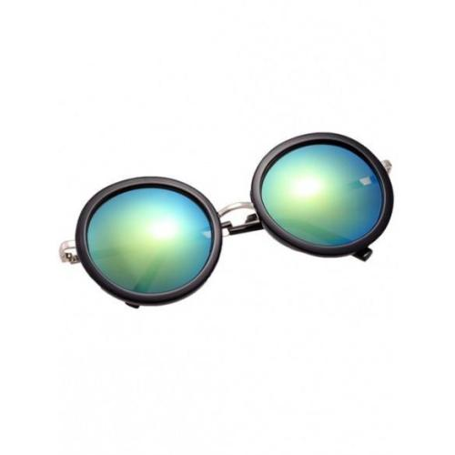Vintage Style Unisex Round Lens Gradient UV Protective Casual Outdoor Sunglasses