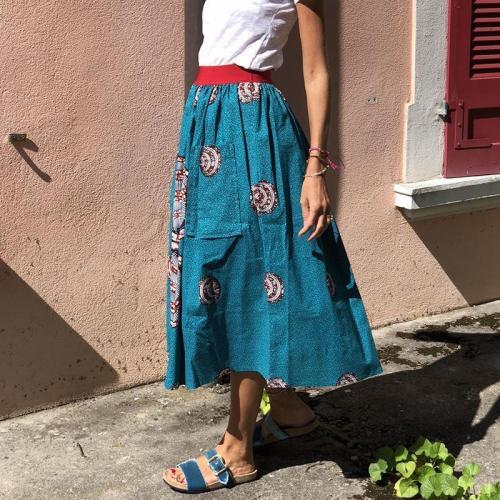 Ladies Casual Printed Skirt RY58