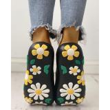 Open Toe Flower Cute Casual Slippers