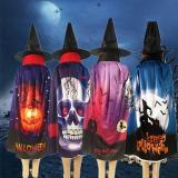 New Halloween Pumpkin Skull Ghost Pattern Cloak Hat Cosplay Party Costume Robe Cape Ponchos Unisex