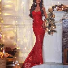 Sexy Wrapped Chest Slim Lace Evening Dress