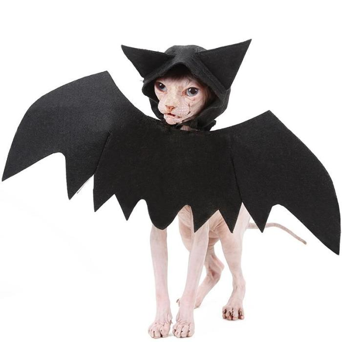 Halloween Cats Cosplay Costume Clothes for Pet Cats Dogs Bat Costumes Outfit Apparel Pets Accessories Coat Simulation Plush
