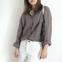 Cotton and Linen High Low Shirt
