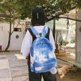 Women Travel Bag Soft Fashion Shoulder Backpack Versatile Starry Sky Backpack Clutches Bag Nylon Schoolbags Zipper Rucksack