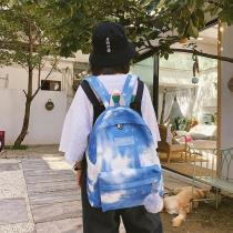 Women Travel Bag Soft Fashion Shoulder Backpack Versatile Starry Sky Backpack Clutches Bag Nylon Schoolbags Zipper Rucksack
