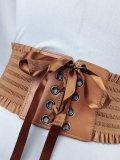 Vintage Bow Belt Lace Up Waistband