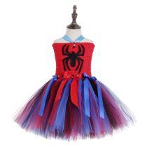 Girls Super Hero Dress Costume Party Supergirl Spider-Man Tutu Dress Up