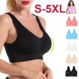 EBUYTIDE sports bra Seamless crop top for fitness gym running sportswear women's underwear push up brassiere plus size Yoga bra BH