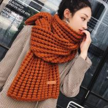 New winter Knitted scarf fashion women long scarves female vintage large shawl soft warm pashmina  thickened wool scarf