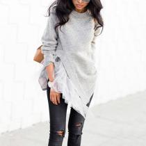 Elegant Splicing Lace Sweater