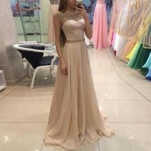 Simple And Elegant Round Neck Sleeveless Waist Dress