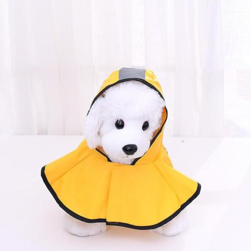 Dog Clothes Teddy Rain Coat Waterproof Poncho Cape Large Pet Yellow Raincoat Grey Reflective Stripe Clothes Jacket Medium Large